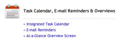 Calendar function in My Wedding Workbook