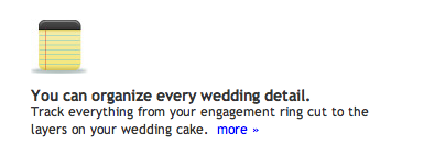 notes feature from My Wedding Workbook