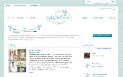 Style Circle webpage
