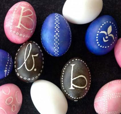 Ukranian Mongrammed Eggs
