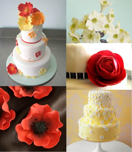 A collection of sugar flowers