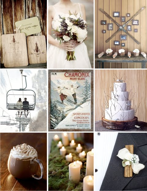 Ski Wedding Inspiration Board