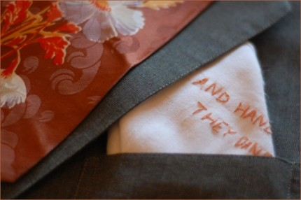 embroidered pocket square