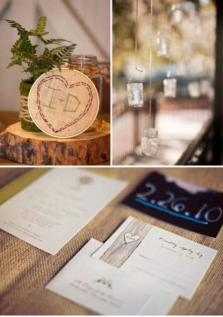 woodsy details for an eco-chic wedding