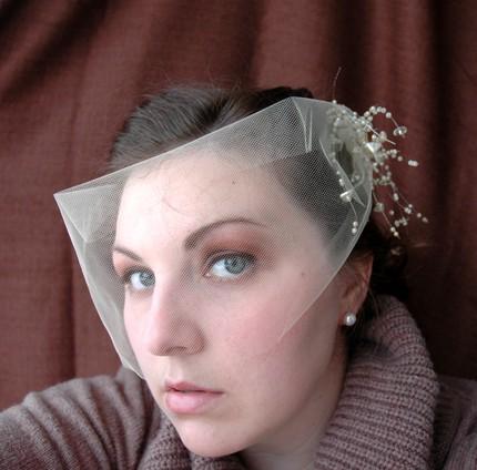 wrap around veil on Etsy