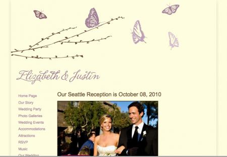 My wedding dot com sample website template