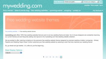 My Wedding Dot Com Wedding Website Home