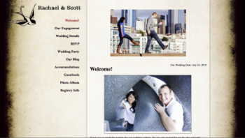 Off Beat Bride wedding website sample template