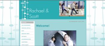 Off Beat Bride wedding website sample template 2