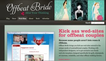 Off Beat Bride wedding Website home page