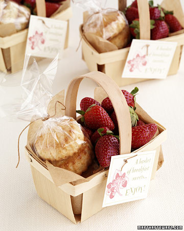 Home made strawberry shortcake wedding favors