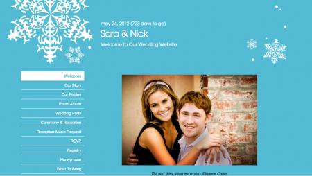Wedding Wire dot com sample website template