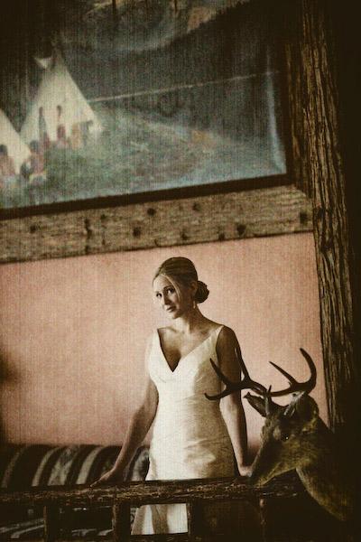 reluctant bride near deerhead