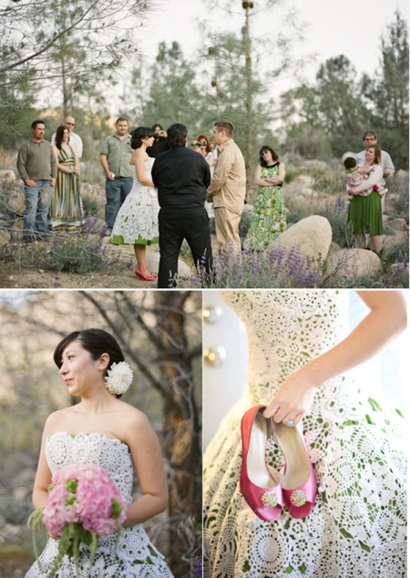 Mountain elopement in California