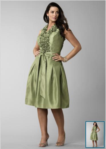 green mother of bride dress