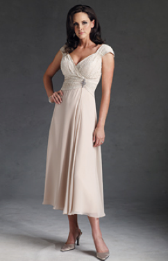 white mother of bride dress