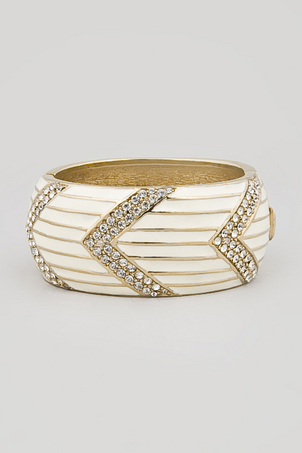 silver, white and gold bracelet