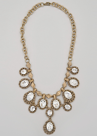 Bronze and crystal necklace