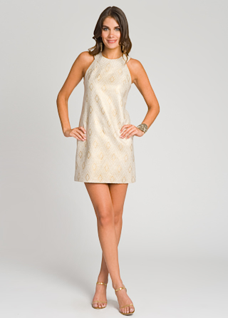 short white reception party dress