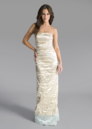 off white mermaid gown