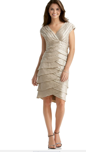 Cream color plus size mother of the bride dress
