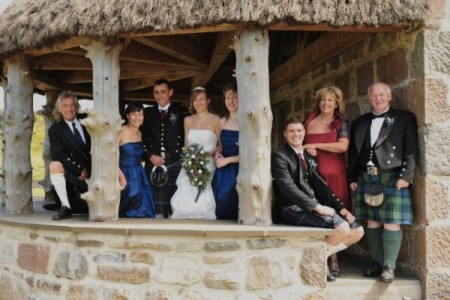 Group Portrait of a Scottish Wedding