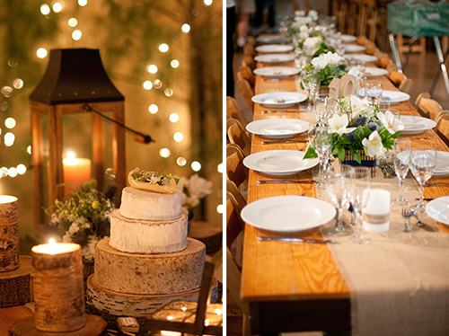 reception table and cake table