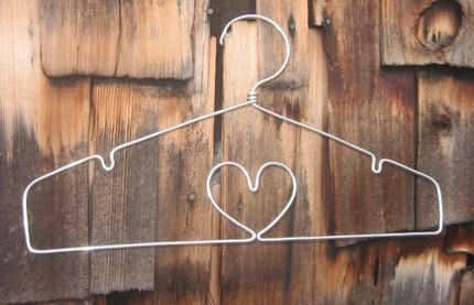 heart shaped hanger