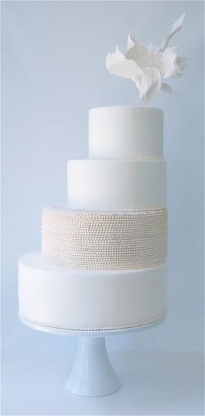 asymmetric wedding cake
