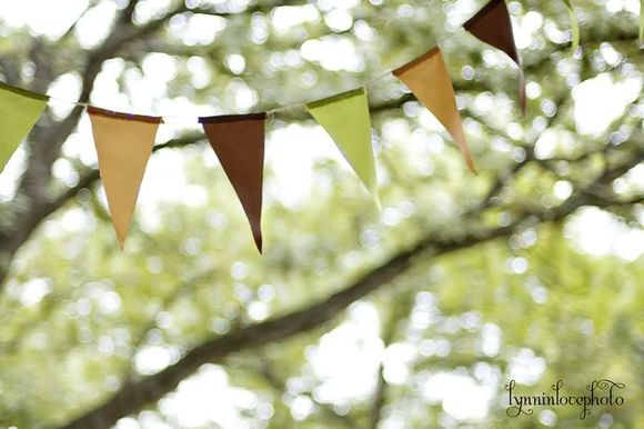 muted colored bunting in a tree