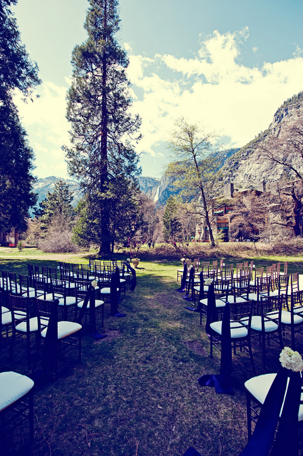 ceremony site at the Ahwanee Hotel