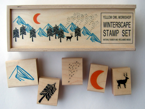 Winter Scape Stamps