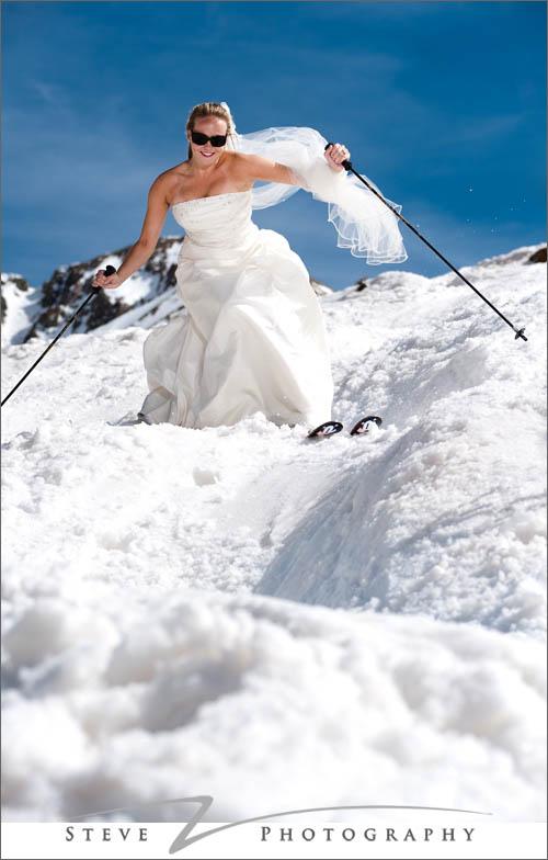 Bride in bumps