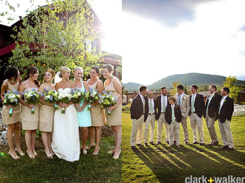 Preppy bridal party