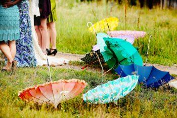umbrellas in the grass