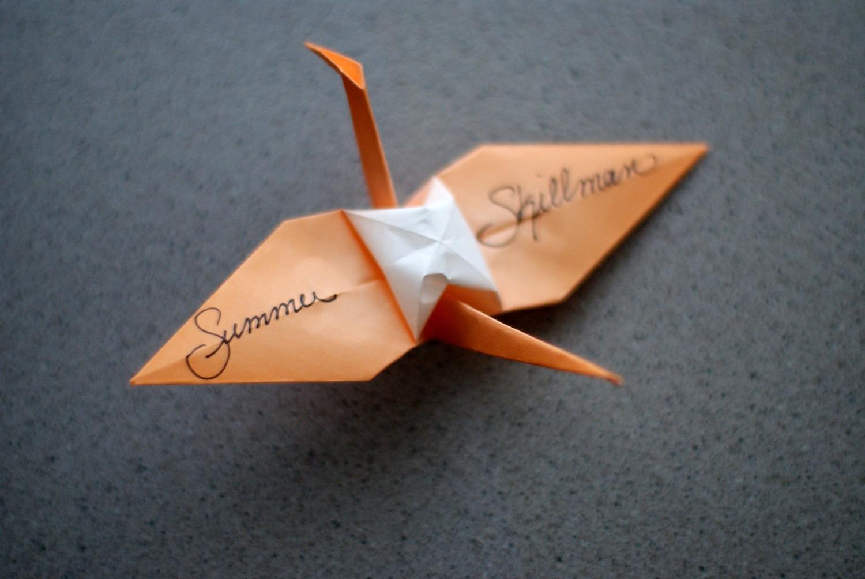 DIY: Origami Heart Escort Cards - Weddbook | 1004x1500