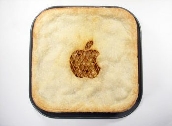 pie with apple computers logo