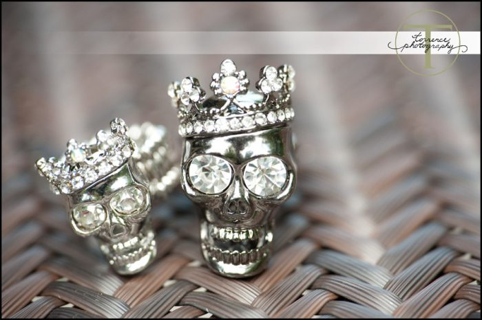 skull diamond rings