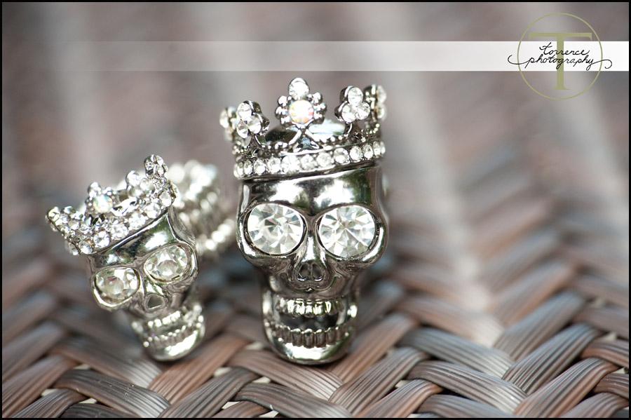 skull diamond rings