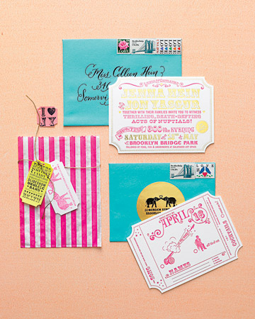 carnival invitation suite