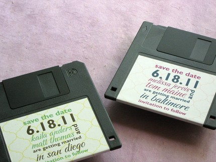 floppy disk save the dates