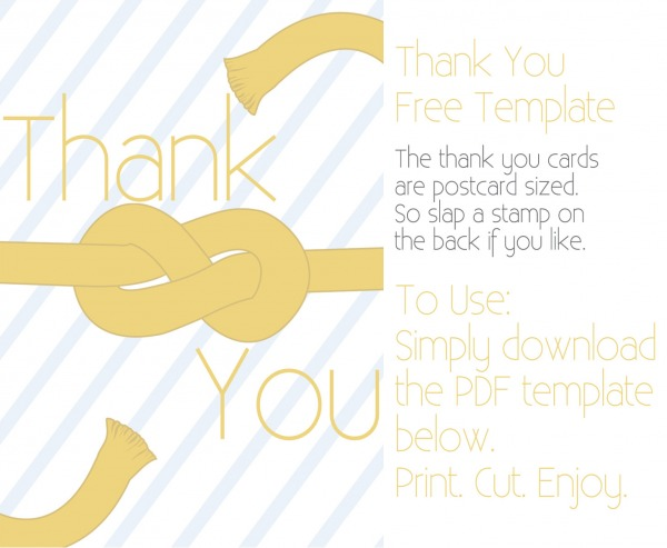 figure eight knot thank you card