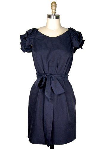 casual navy bridesmaid dress