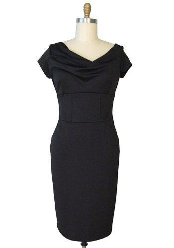 little black bridesmaid dress