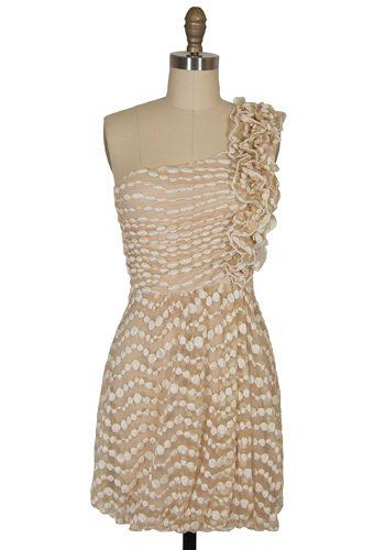 ruffled gold bridesmaid dress