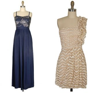 navy and champagne bridesmaid dresses