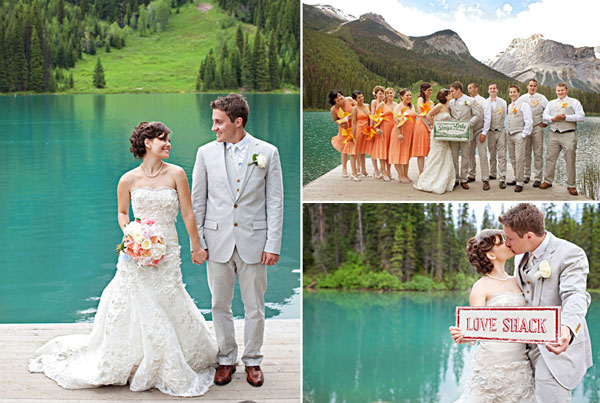 bridal shots glacial lake