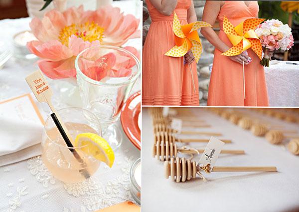 peach decorations