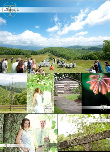 Cataloochee Moutain wedding 1