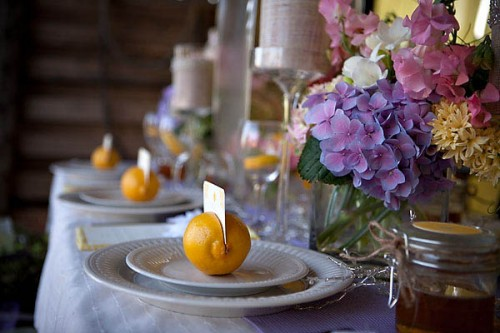 lemon placecard holders